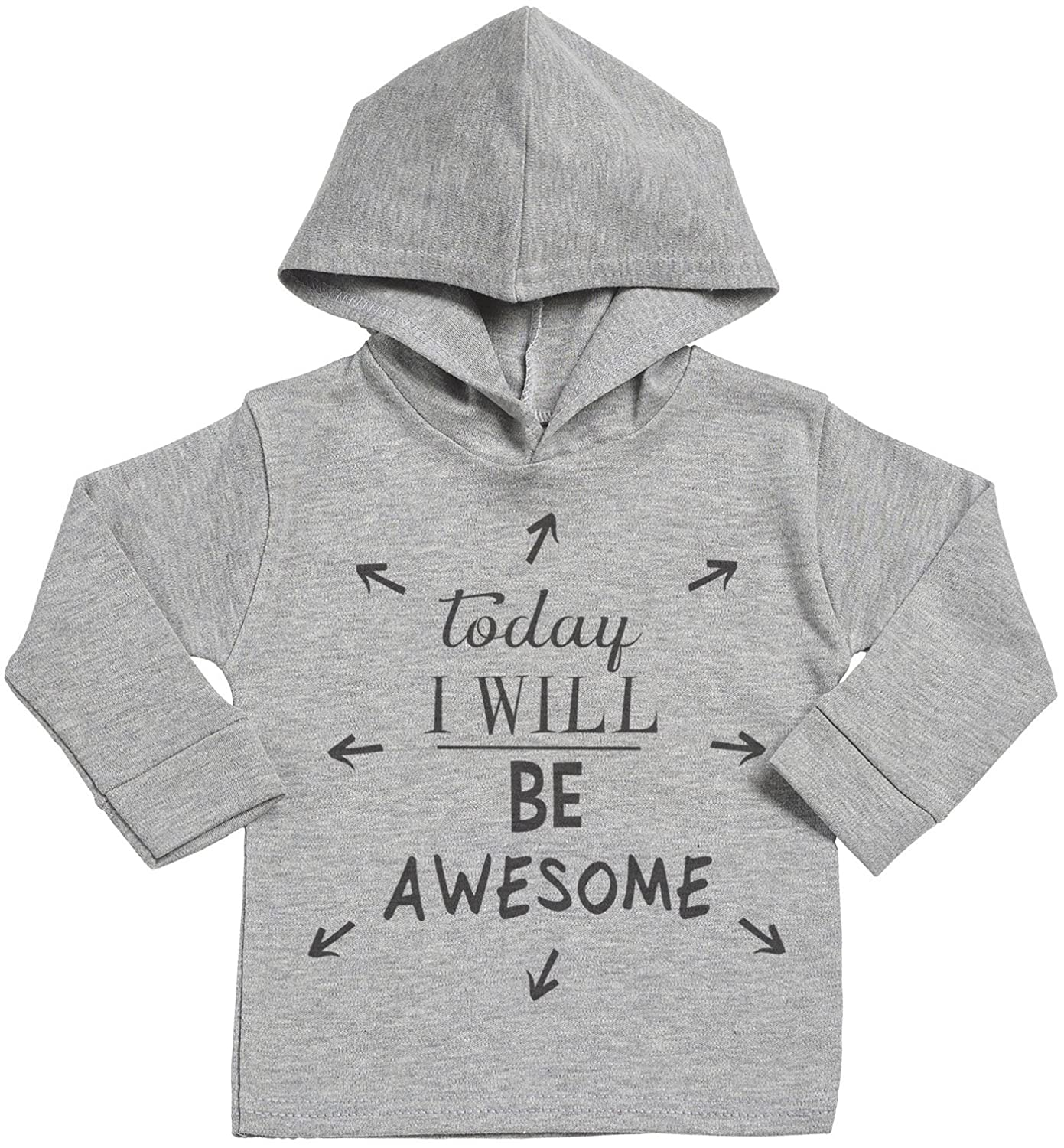 Baby Gift Baby Sweatshirt with Hood SR Today I Will Be Awesome Cotton Baby Hoodie Baby Hoody