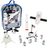 Space Toy Set - 22 Piece Backpack Playset - With Space Ships and Astronaut Figures