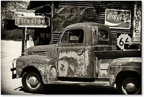 US Truck Canvas Wall Art