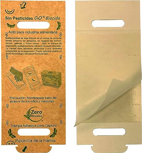 Zero Biocides 9 Trampa para Polilla de los Alimentos Fabricas en España: Amazon.es: Jardín