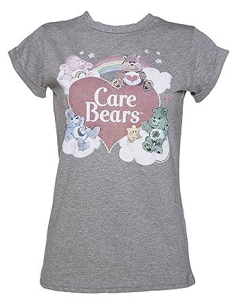 a473208c920c6c Amazon.com  Womens Vintage Care Bears Rolled Sleeve Boyfriend T ...
