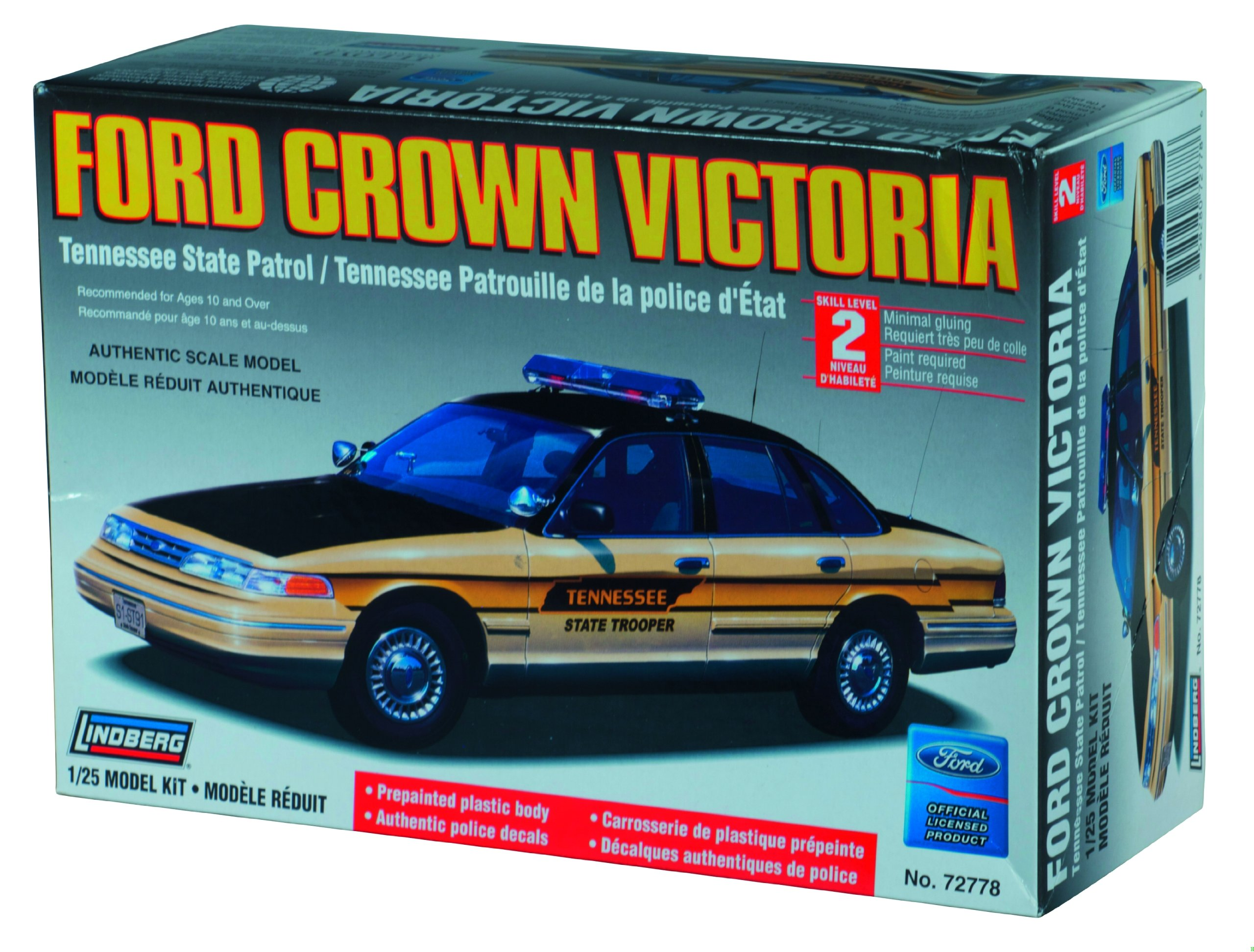 Lindberg Ford Crown Victoria Tennessee State Patrol 1/25 Scale Model Car Kit