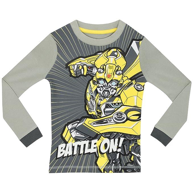 Transformers - Pijama para Niños - Transformers - Brillan En La Oscuridad - Ajuste Ceñido: Amazon.es: Ropa y accesorios