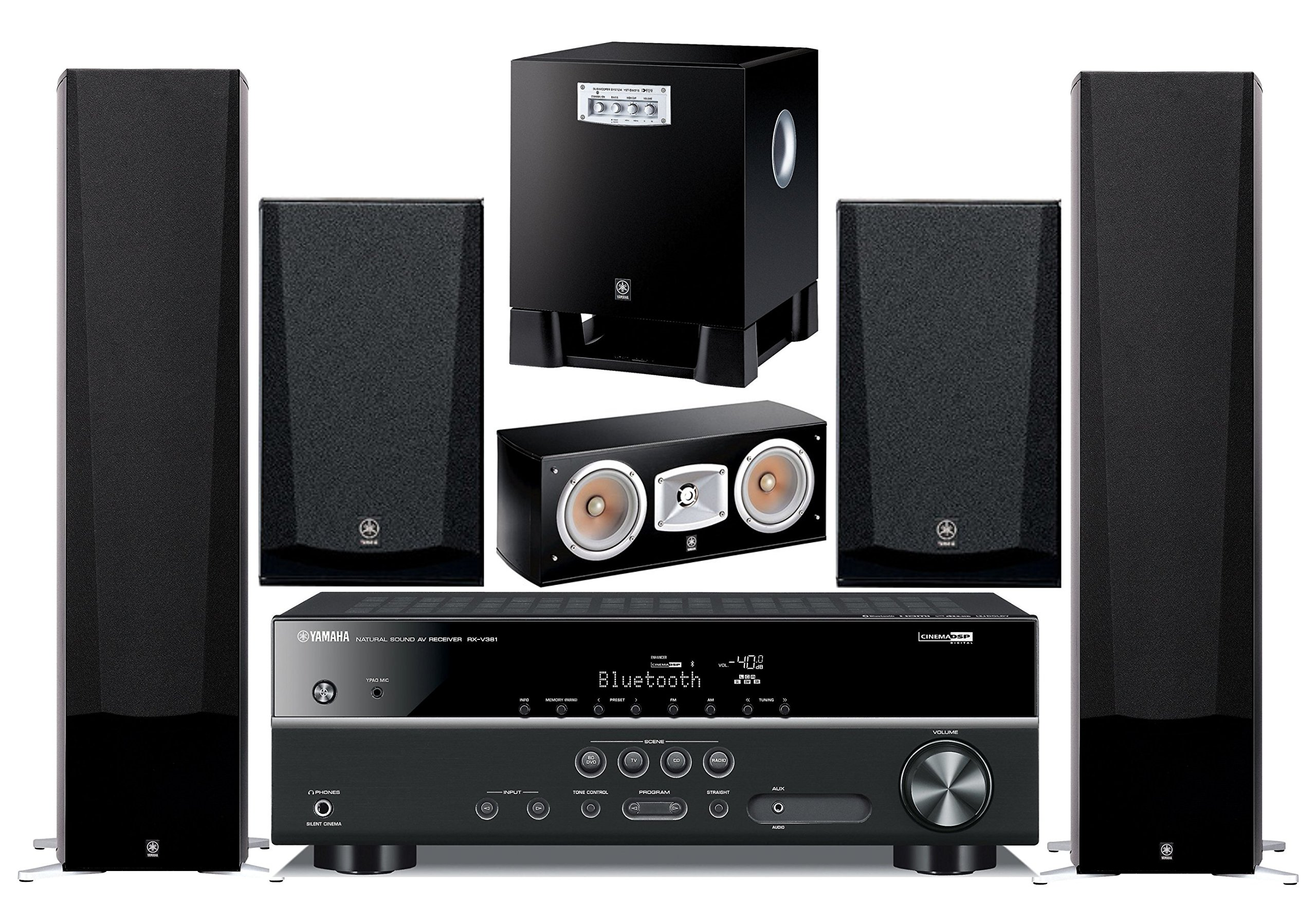 Yamaha 5.1-Channel Wireless Bluetooth 4K 3D A/V Surround Sound Multimedia Home Theater System by Yamaha