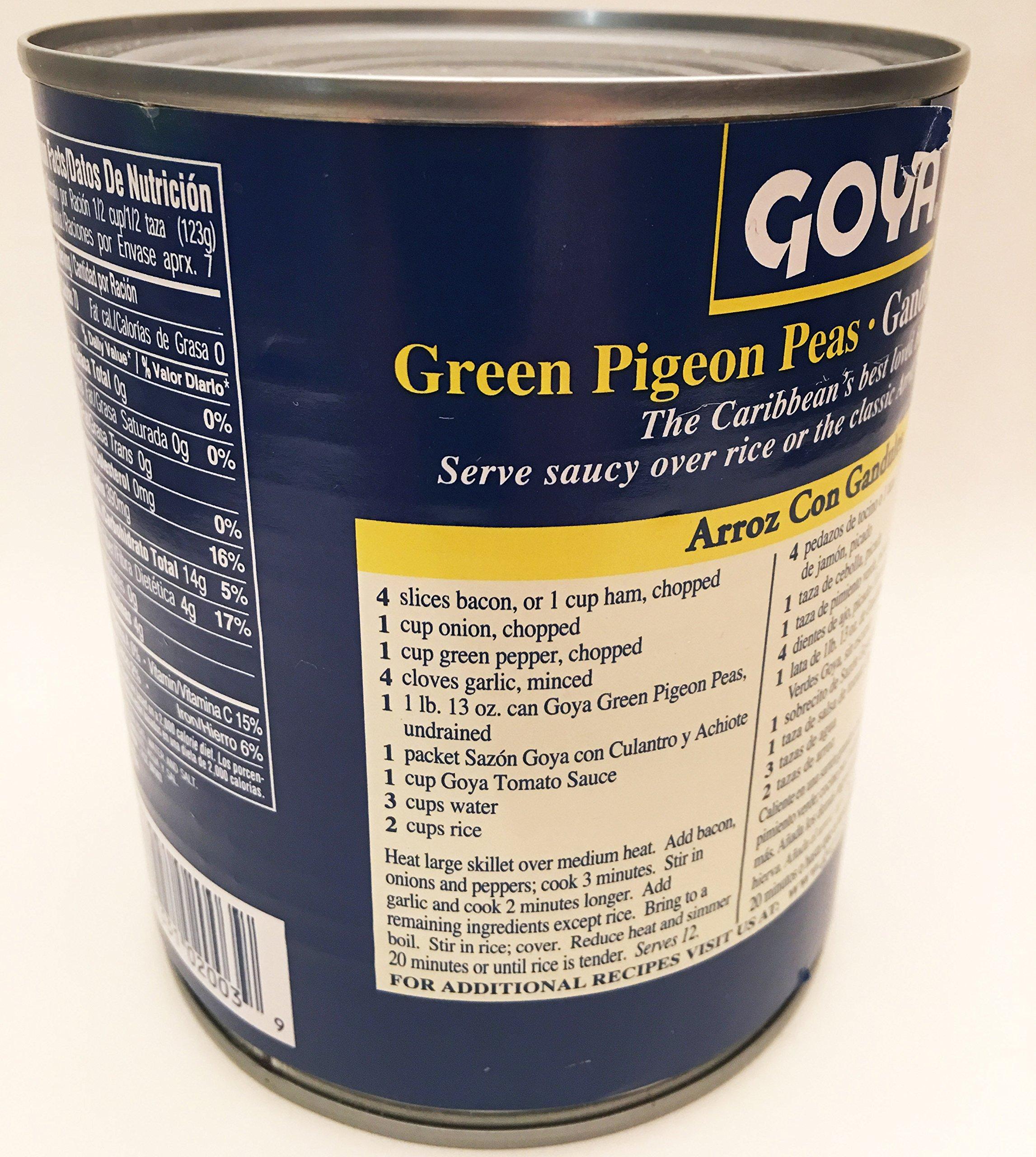 Goya Green Pigeon Peas (1lb, 13 oz can, 822G) Gandules Verdes
