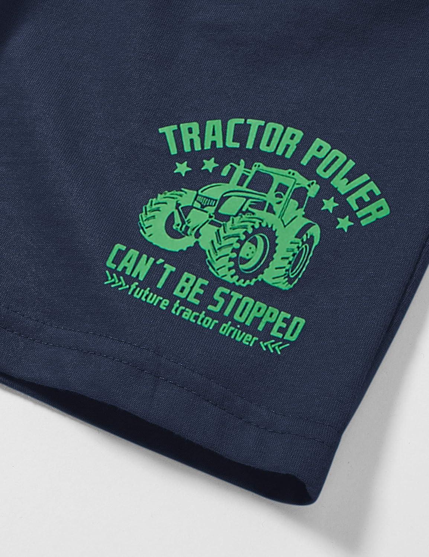 Salt /& Pepper Traktor Druck Pantaloncini Bambino