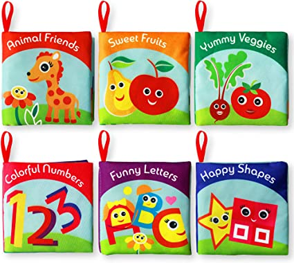 Children Let/'s Roll! Girls Child Boys Soft Cloth Books for Baby Toddler