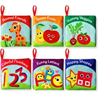 Cloth Books for Babies (Set of 6) - Premium Quality Soft Books for Toddlers. Touch and Feel Crinkle Paper. Safe and…
