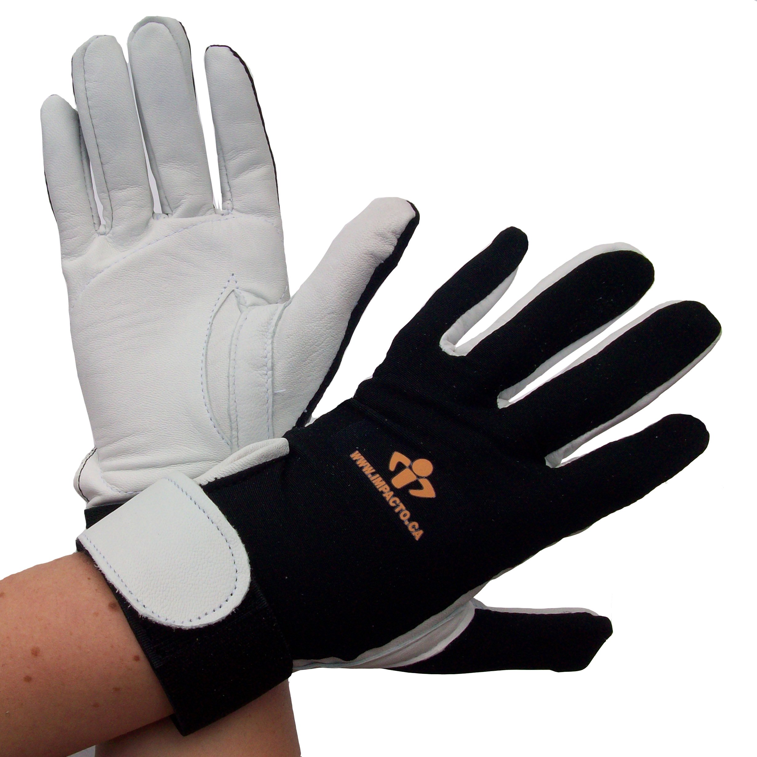 Impacto 40330110030 Anti-Vibration Glove, Black/White