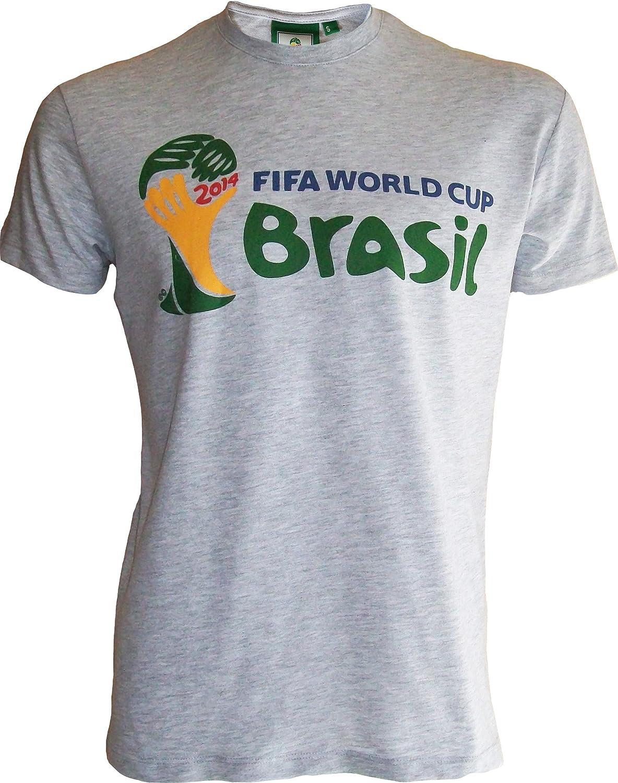 FIFA WORLD CUP BRASIL 2014 Copa del Mundo 2014 de fútbol AU Bresil – Camiseta Oficial Hombre, Talla DE Adulto: Amazon.es: Deportes y aire libre