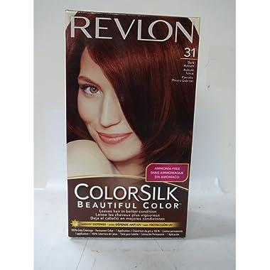 Revlon ColorSilk Hair Color, [31] Dark Auburn 1 ea (Pack of 3)