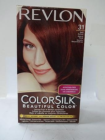 Amazon.com : Revlon ColorSilk Hair Color, [31] Dark Auburn 1 ea (Pack of 6) : Beauty