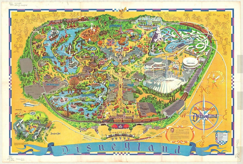 Amazon.com: Historic Map | Disneyland 1968 | Walt Disney's Guide to on