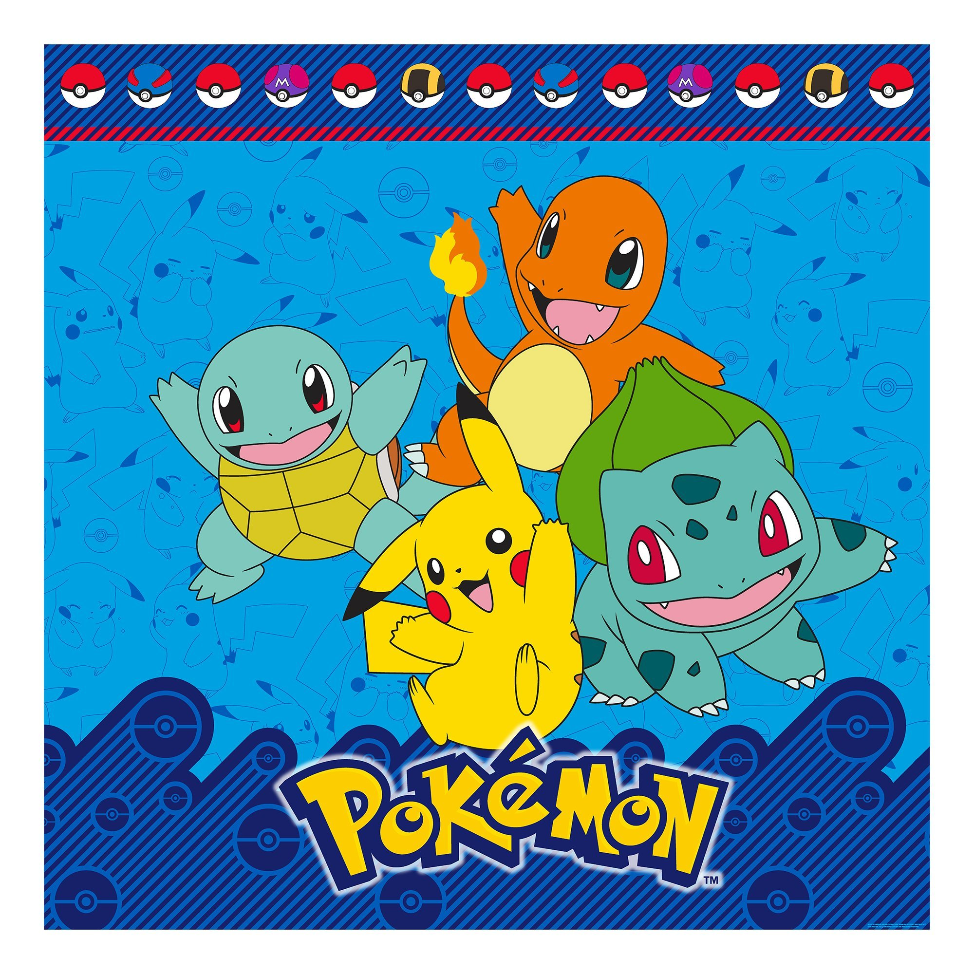 Pokemon I Choose You Pikachu and Friends Kids Shower Curtain