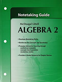 amazon com mcdougal littell algebra 1 notetaking guide student rh amazon com Algebra 1 Prentice Hall Workbook 10 4 Form K Algebra 1 Skills Practice Worksheet for 1 3