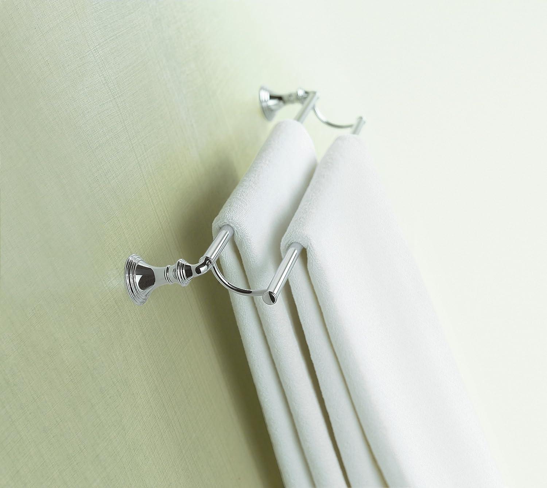 Polished Chrome Kohler K-10553-CP Devonshire 24-Inch Double Bathroom Towel Bar