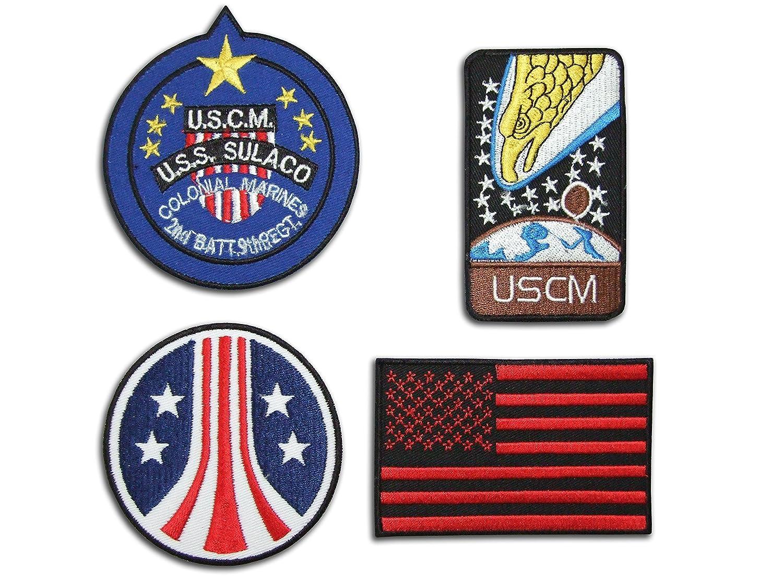 Alien//Aliens Colonial Marines Patches Iron on Patch Set AL04/Sew-On Appliqu/é Emblem