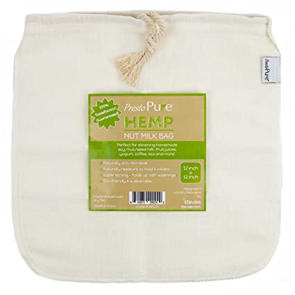 """Presto Pure iae17h 12 x 12 """"reutilizable bolsa de tensión para leche de soja"""