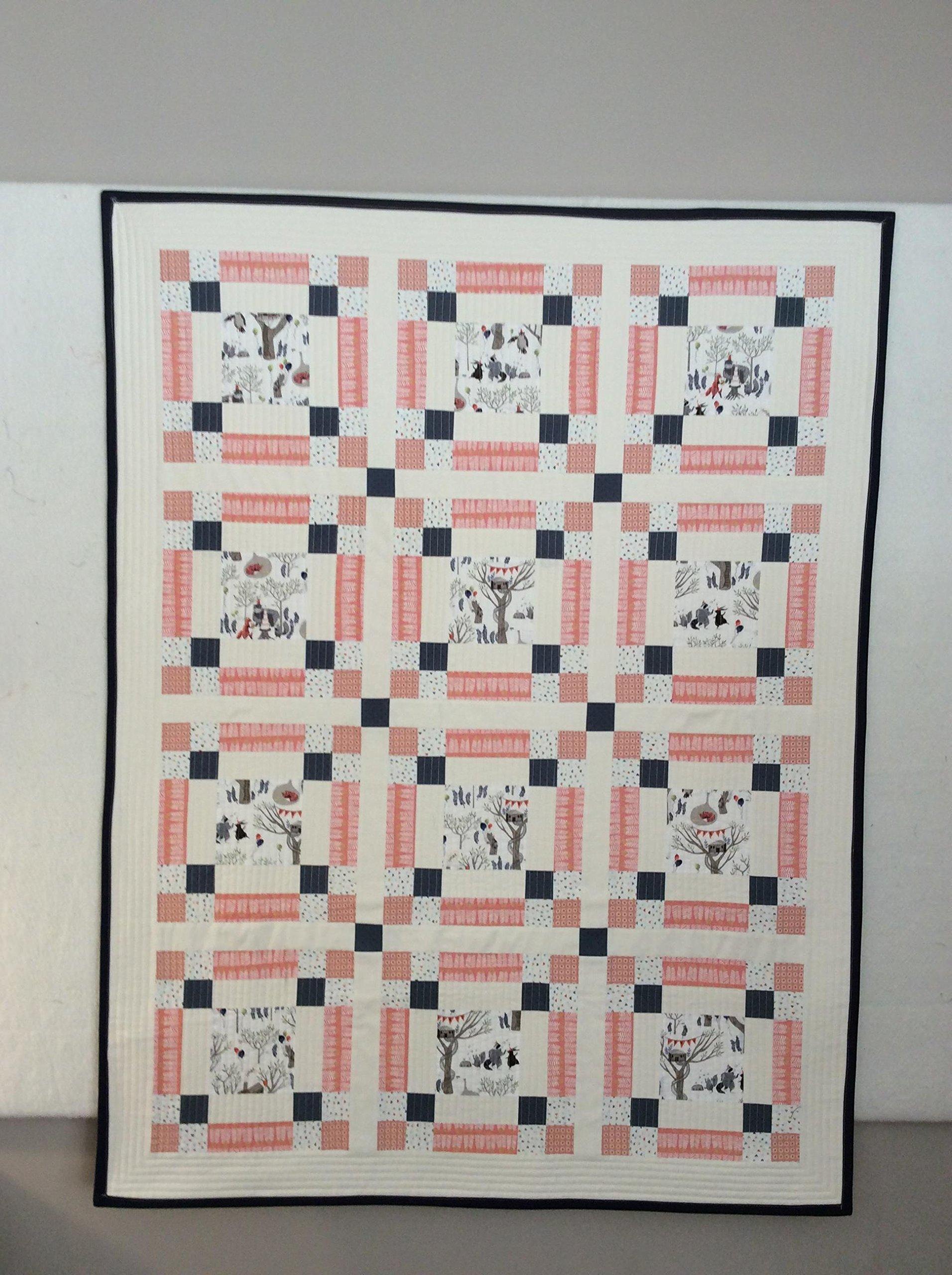Baby Quilt - Modern Baby Quilt - Modern Toddler Quilt - Crib Quilt - Woodland Quilt - Handmade Baby Quilt - Pink Quilt - Baby Girl Quilt