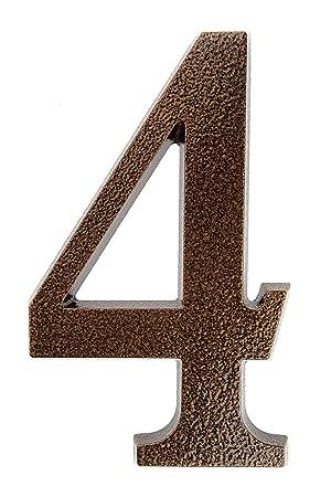 HUBER Hausnummer Nr edles dreidimensionales Design 3 Aluminium pulverbeschichtet anthrazit//schwarz 20 cm