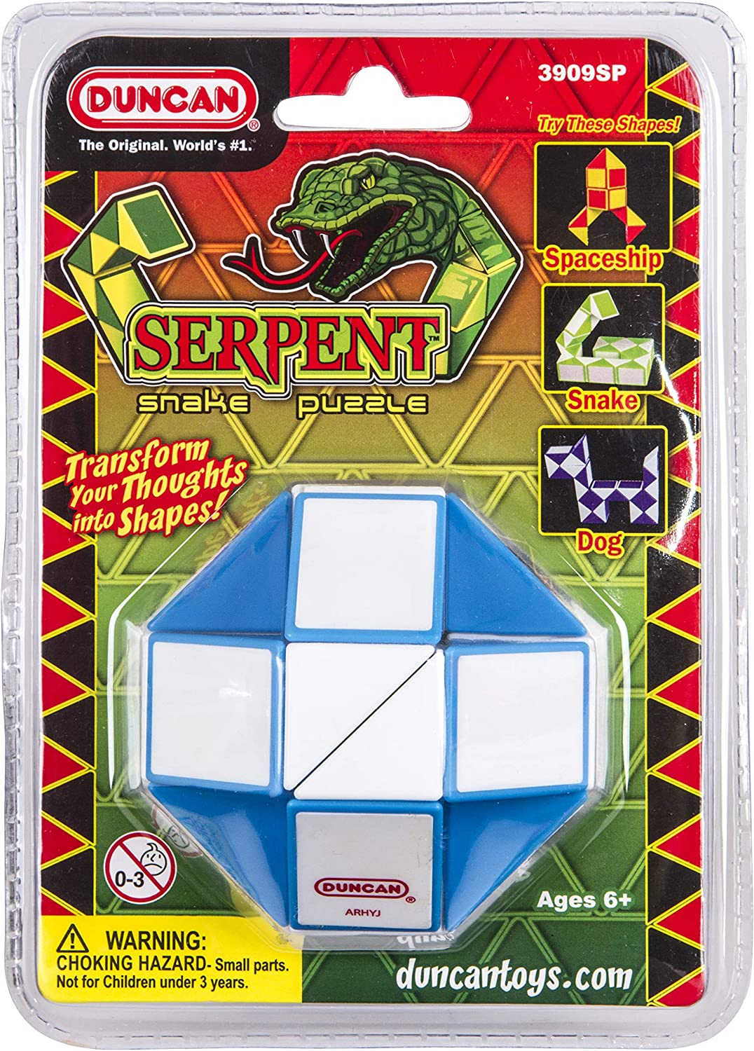 Duncan Toys Serpent Snake Puzzle Blue//White Twistable Puzzle Toy