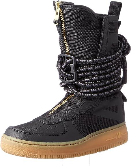 Nike SF Air Force 1 High Top Womens Boots BlackGum Light BrownBlack aa3965 001