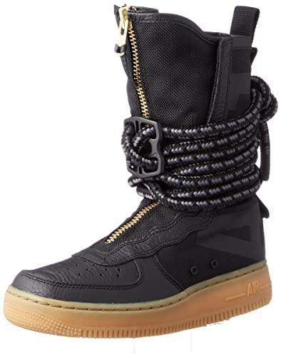 new arrival 8a063 c61fa Nike SF Air Force 1 High Top Womens Boots Black Gum Light Brown Black