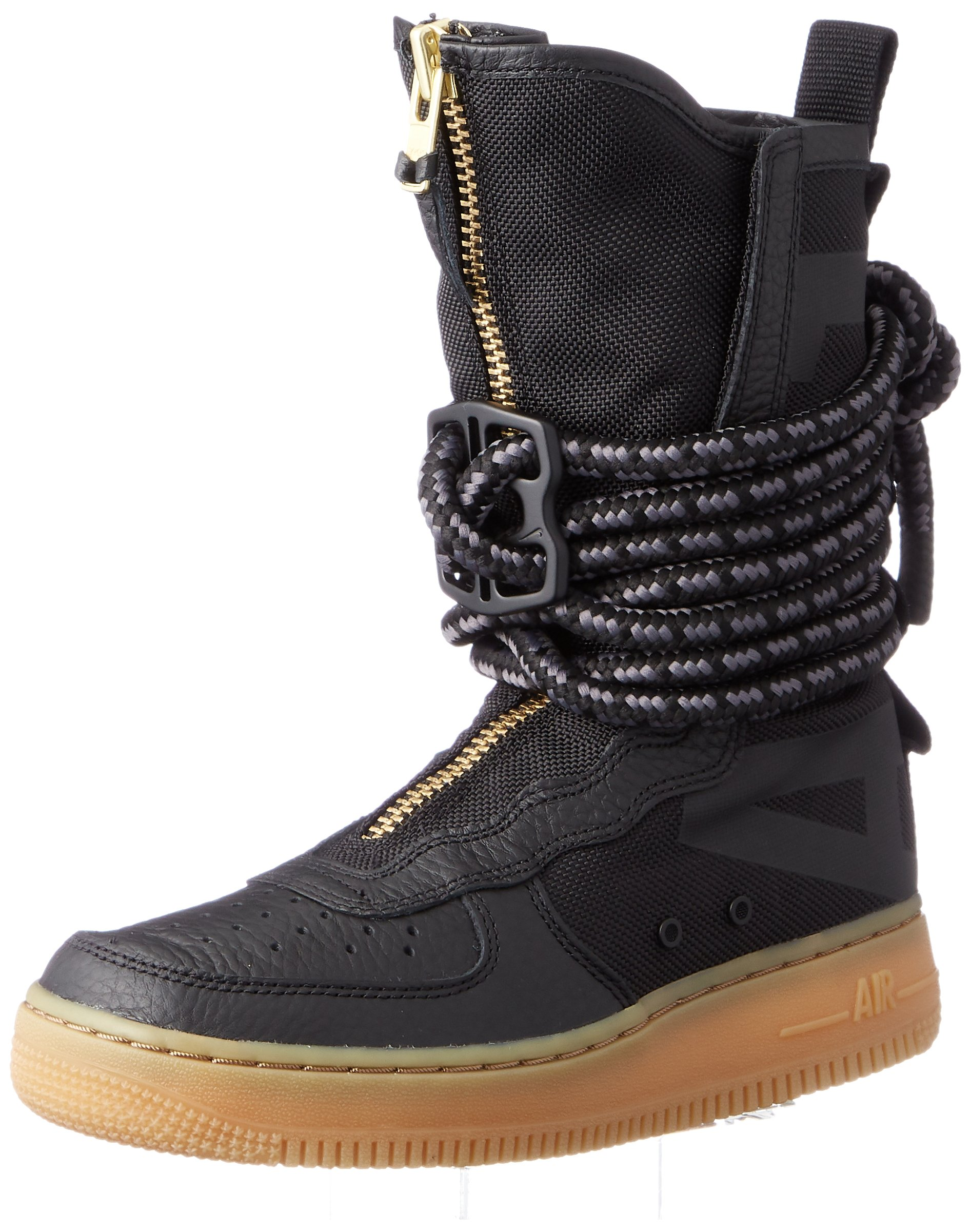 NIKE SF Air Force 1 High Top Womens Boots Black/Gum Light Brown/Black aa3965-001 (6 B(M) US)