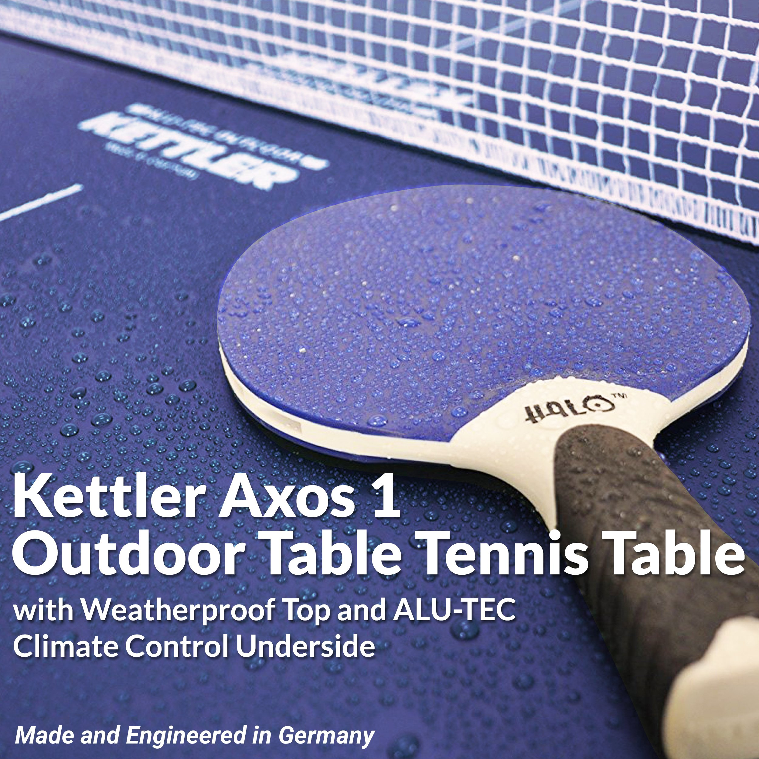 Kettler Outdoor Table Tennis Table - Axos 1 with Outdoor Accessory Bundle by Kettler (Image #3)