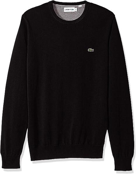 Lacoste Mens Long Sleeve Half Moon V Neck Jersey Sweater