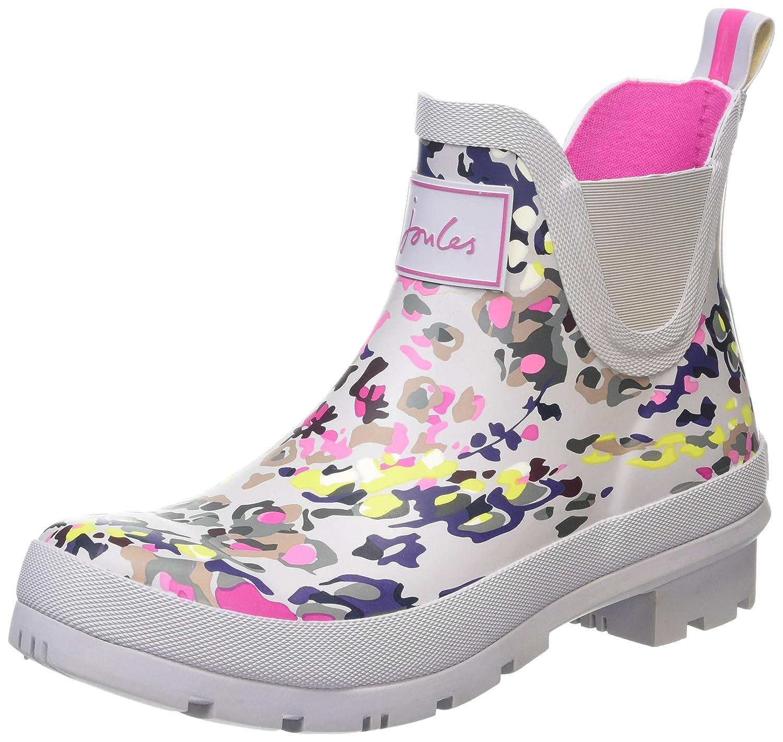 Joules Women's Wellibob Rain Boot B01F00DMRM 5 B(M) US|Silver Scatter