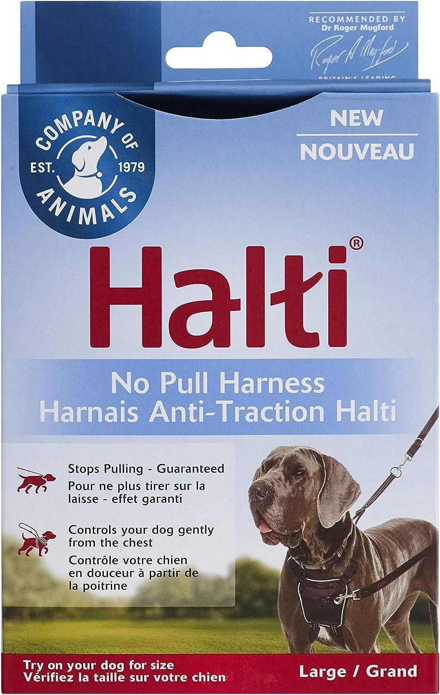 Halti Arnés para Perros, arnés sin tirones para Perros Grandes, Evita Que el Perro Tire en Caminatas con arneses para Perros Grandes