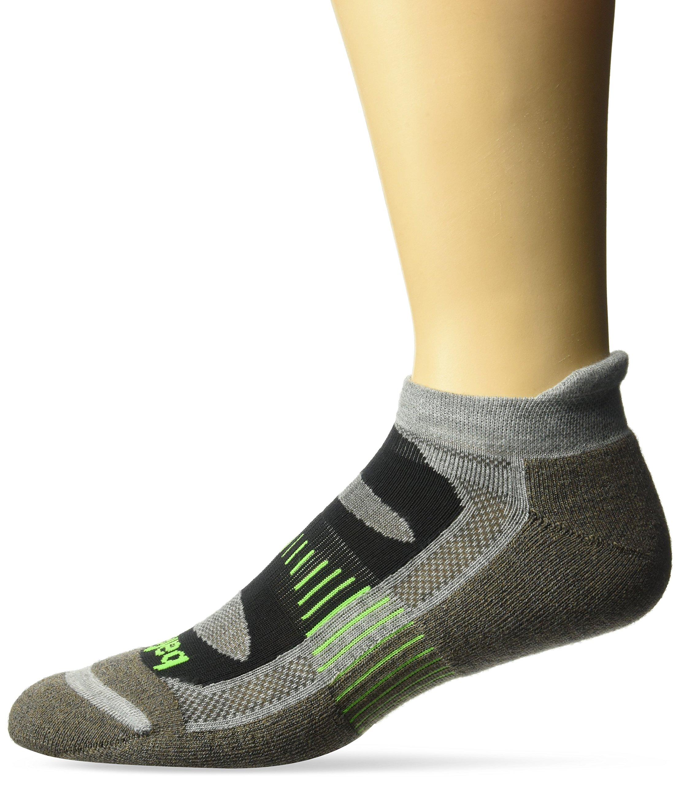 Balega Blister Resist No Show Socks for Men and Women (1-Pair), Mink/Grey, Medium