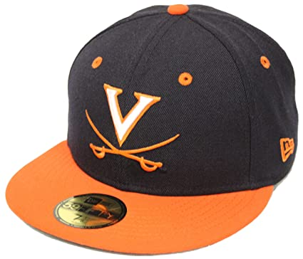 8be1d137e34b8 New Era 59Fifty University of Virginia Navy Orange Fitted Cap (7 1 2)