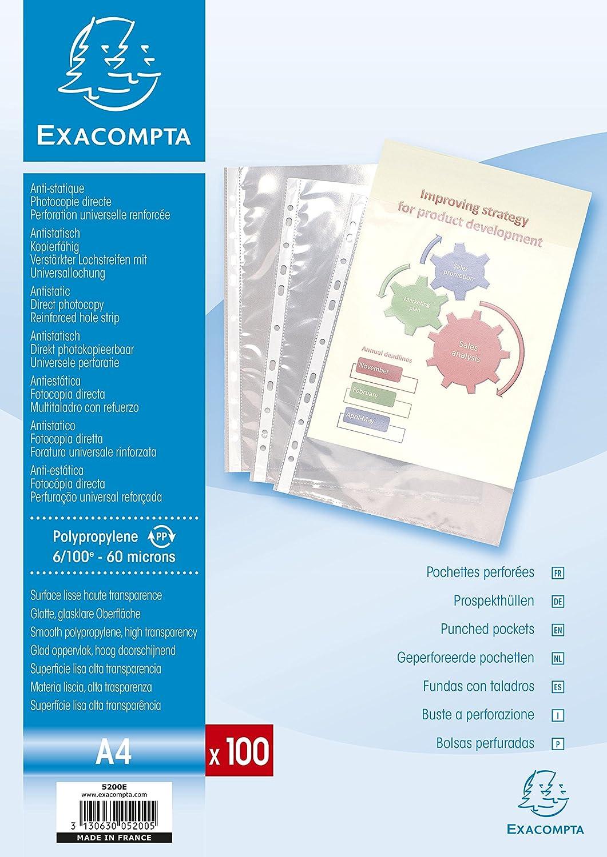 Exacompta 5200E Buste, 30.50 x 23 x 1.60 cm