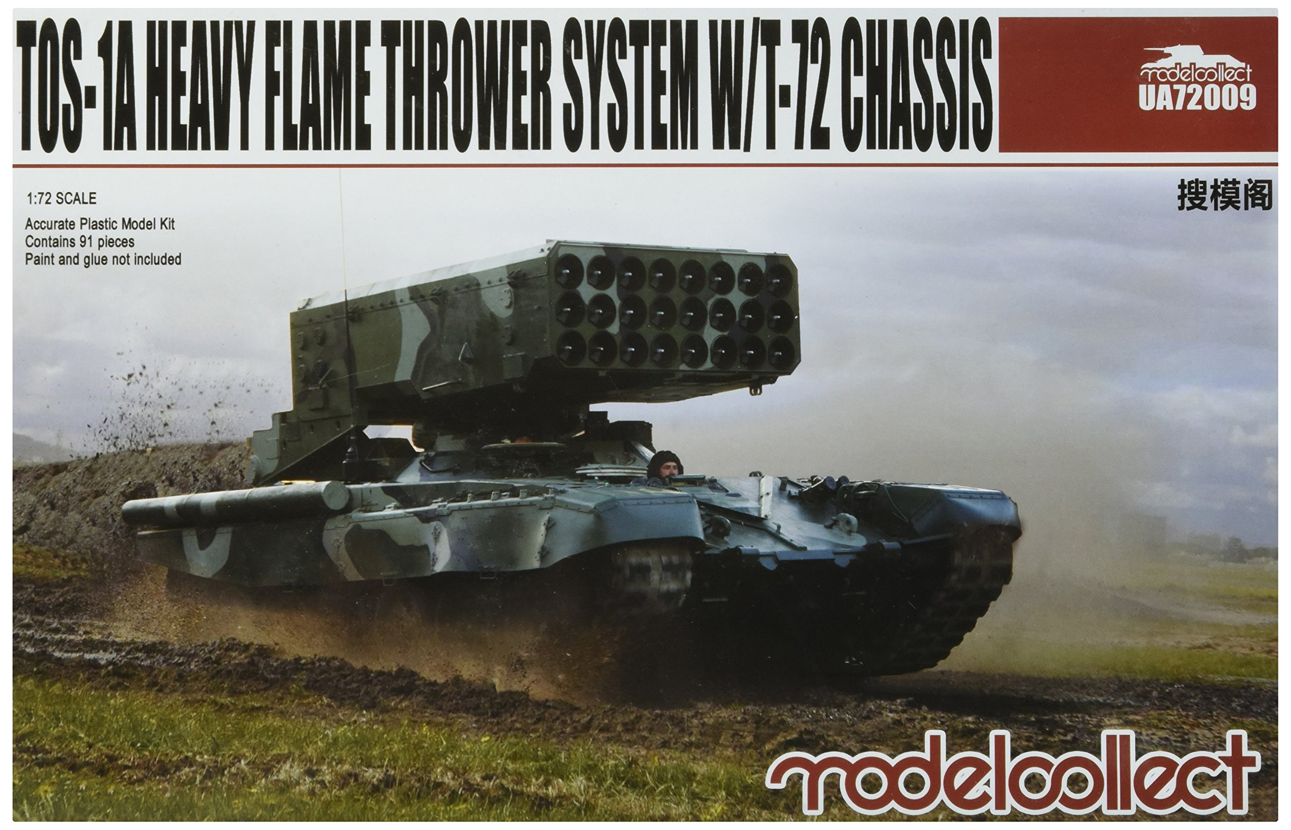 Modelcollect UA72009Model Kit TOS/Heavy Flame Thrower System w/T 72Chassis