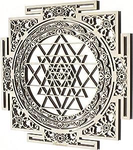 """Multilayer Sri Yantra Black Ornament (11.8"""",3.57"""