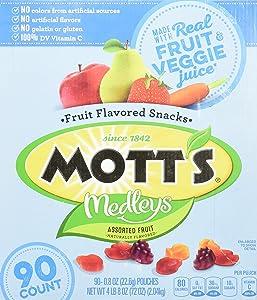 Mott's Medley Assorted Fruit Flavored Snacks (90 ct.), 0.875 oz