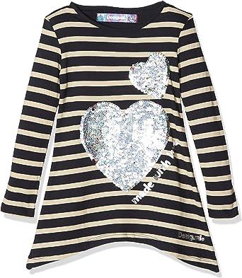 Desigual TS_Linx Camisa Manga Larga, Azul (Navy 5000), 164 (Talla del Fabricante: 13/14) para Niñas: Amazon.es: Ropa y accesorios