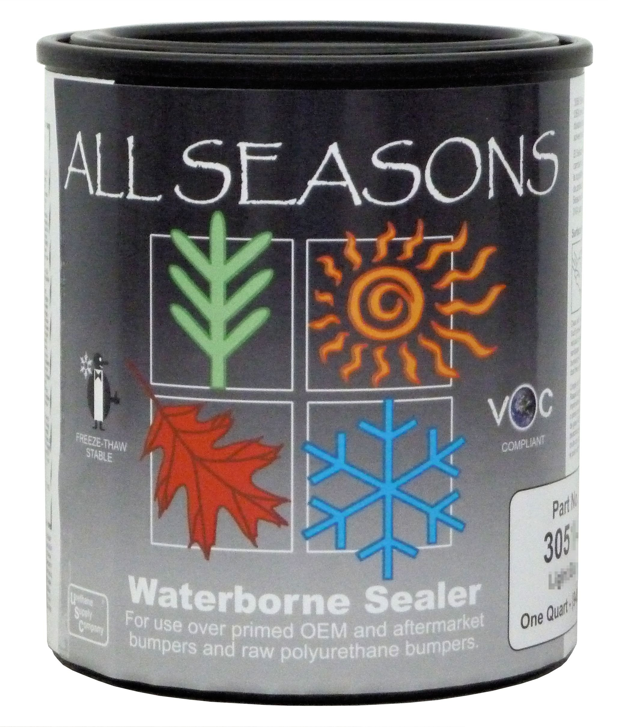 All Seasons Waterborne Bumper Sealer, Quart, Black