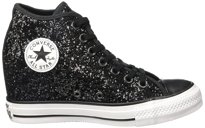 Converse - Converse All Star Chaussures de coin Interne Scintillantes Noir  Lux Mid, Noir, 06f9bb744d87