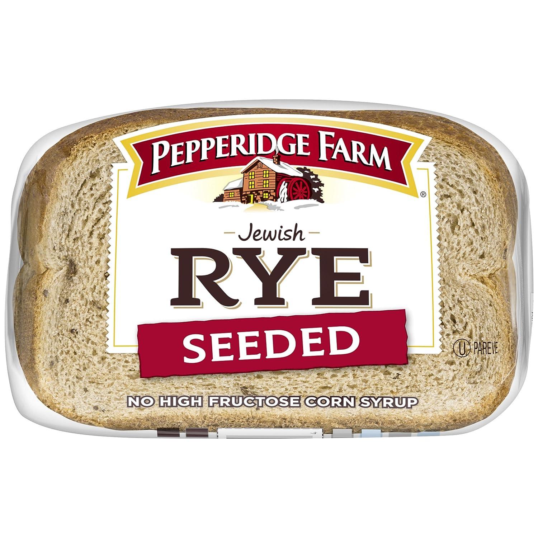 Pepperidge Farm Rye Bread Pepperidge Farm Jewish Rye Seeded Bread, 16 oz: Amazon.com: Grocery & Gourmet Food