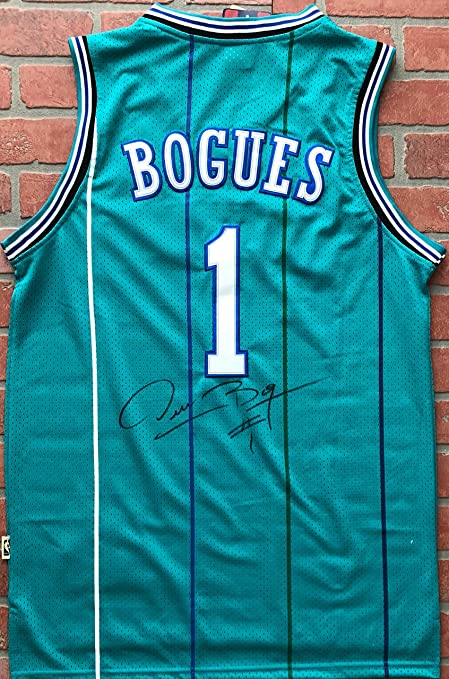 5b26a073bb4 Image Unavailable. Image not available for. Color: Muggsy Bogues  autographed signed jersey authentic NBA ...