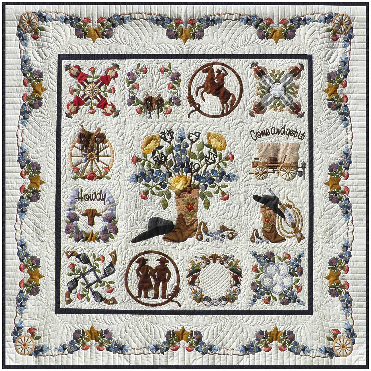 P3 Designs Baltimore Happy Trails BOM Applique Quilt Pattern Set Pearl P. Pereira P3-1901