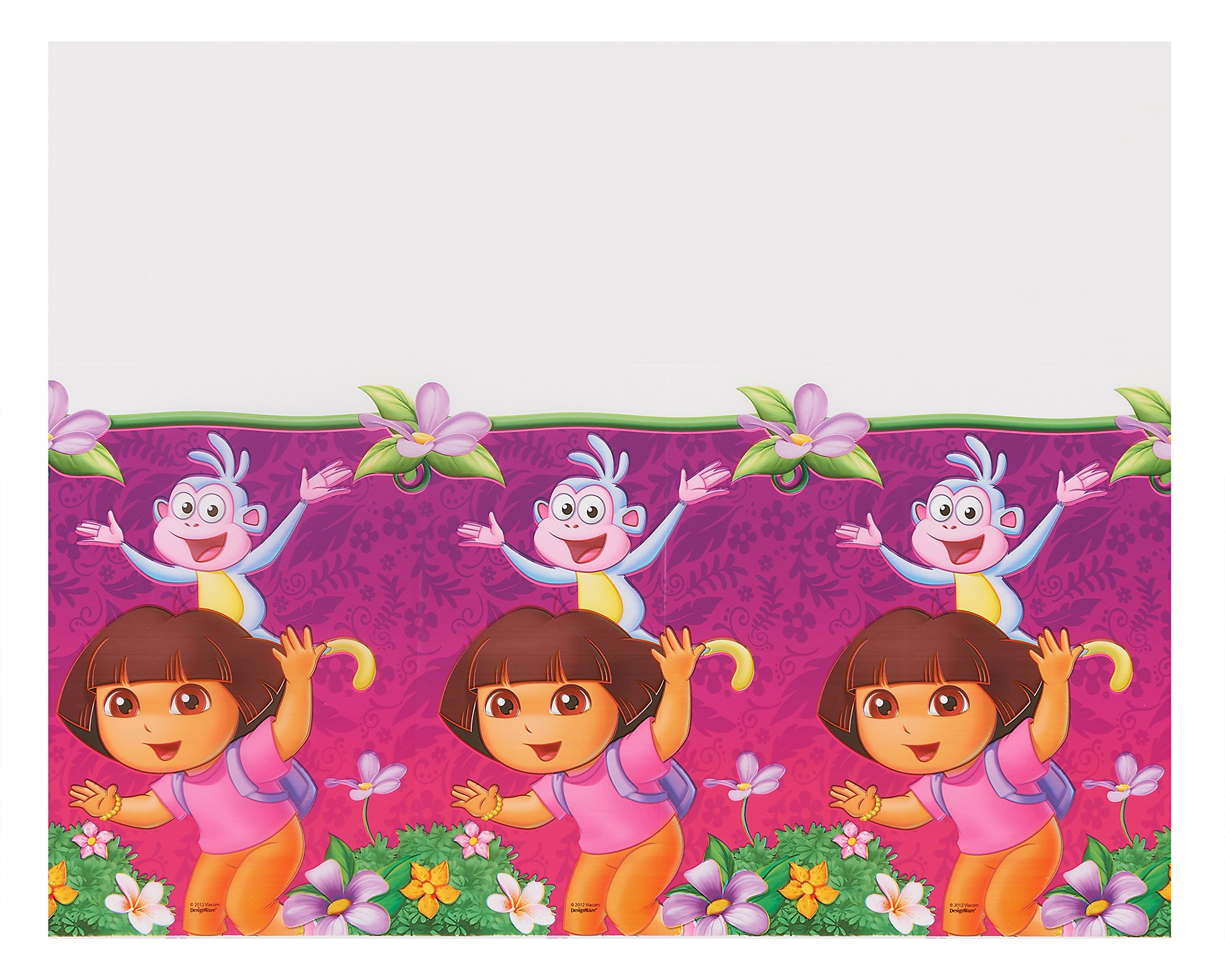 American Greetings Dora The Explorer Plastic Table Cover Party Supplies, 54 x 96''