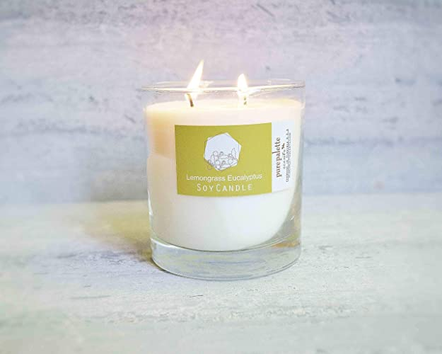 Amazoncom Lemongrass Eucalyptus Spa Soy Candle In Whisky Glass Jar