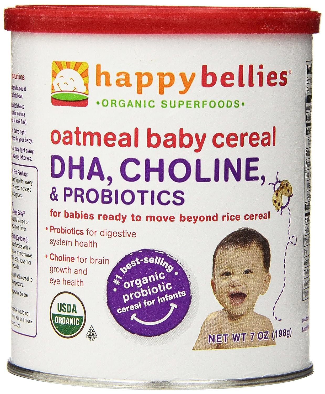 Amazon.com : Feliz Cereal Vientres Orgánica Bebé con DHA ...