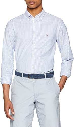 Tommy Hilfiger Core Stretch Slim Stripe Shirt Camisa para Hombre: Amazon.es: Ropa y accesorios