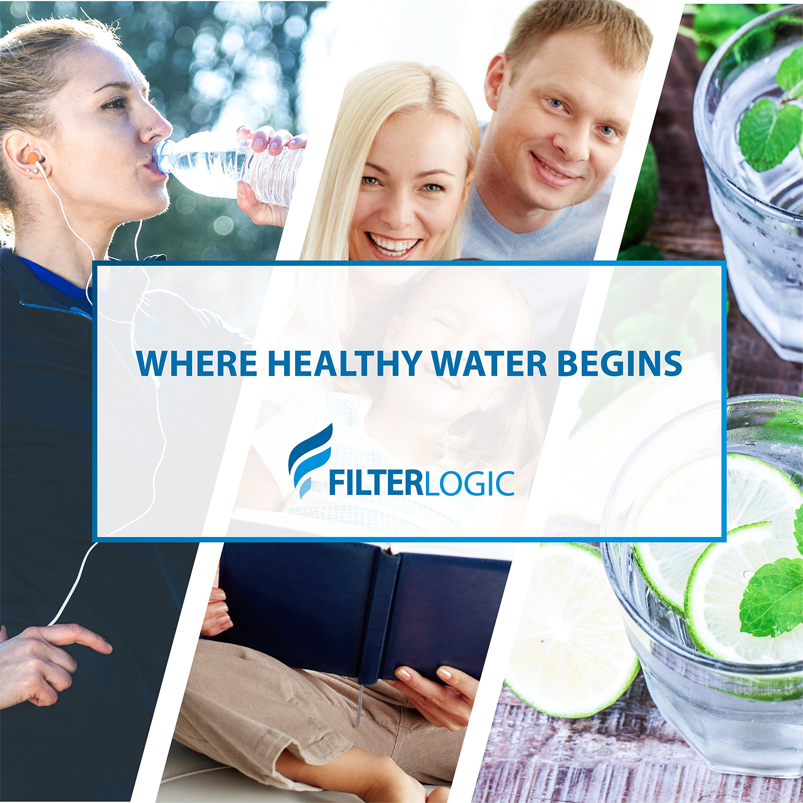 FilterLogic MWF Replacement Refrigerator Water Filter, Compatible with GE MWF, SmartWater, MWFP, MWFA, GWF, HDX FMG-1, WFC1201, GSE25GSHECSS, PC75009, RWF1060, 197D6321P006, 3 Pack by FilterLogic (Image #9)