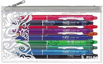 Alle Farben viele Kombinationen 3er Sparpack, Pink PILOT Tintenroller FriXion Ball Clicker 0,7 3er Sparpack W/ählbar auch mit Ersatzminen und Pilot Etui